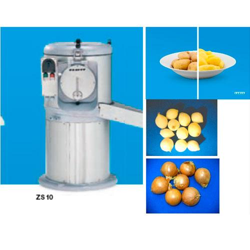 Máquina peladora de cebollas, papas y zanahorias.